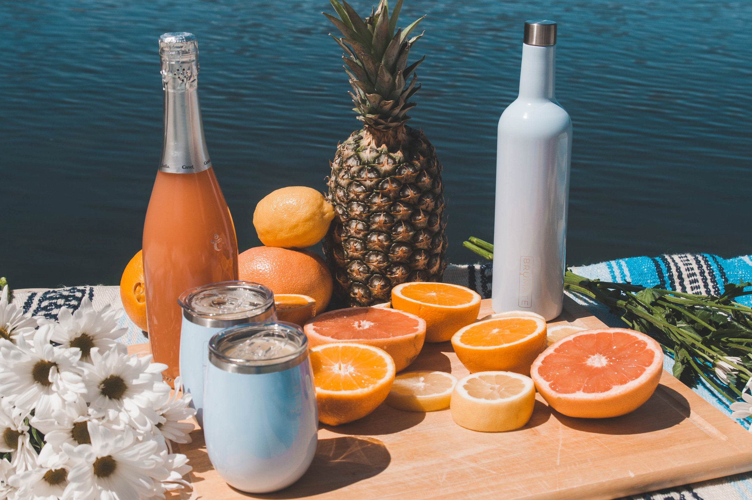 wine cups, stainless steel, summer drink recipe