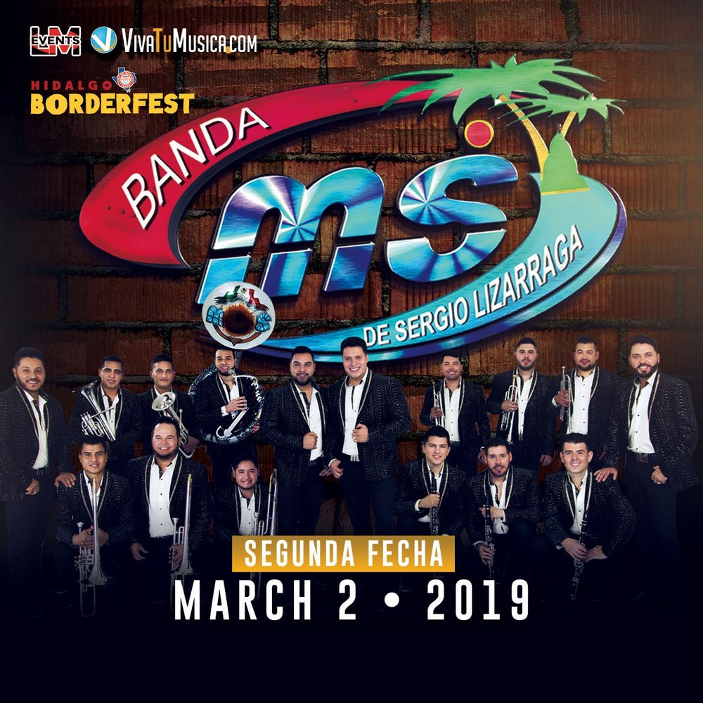 "BANDA MS - Saturday, March 2 •    BUY TICKETS NOW!    Banda Sinaloense MS de Sergio Lizarraga is a regional Mexican group who released a series of albums on the label Disa. Their album releases include Escuela de Rancho (2008), featuring the single ""El Mechón,"" and Corridos Atrevidos (2009), featuring ""El 24."" ~ Jason Birchmeier"