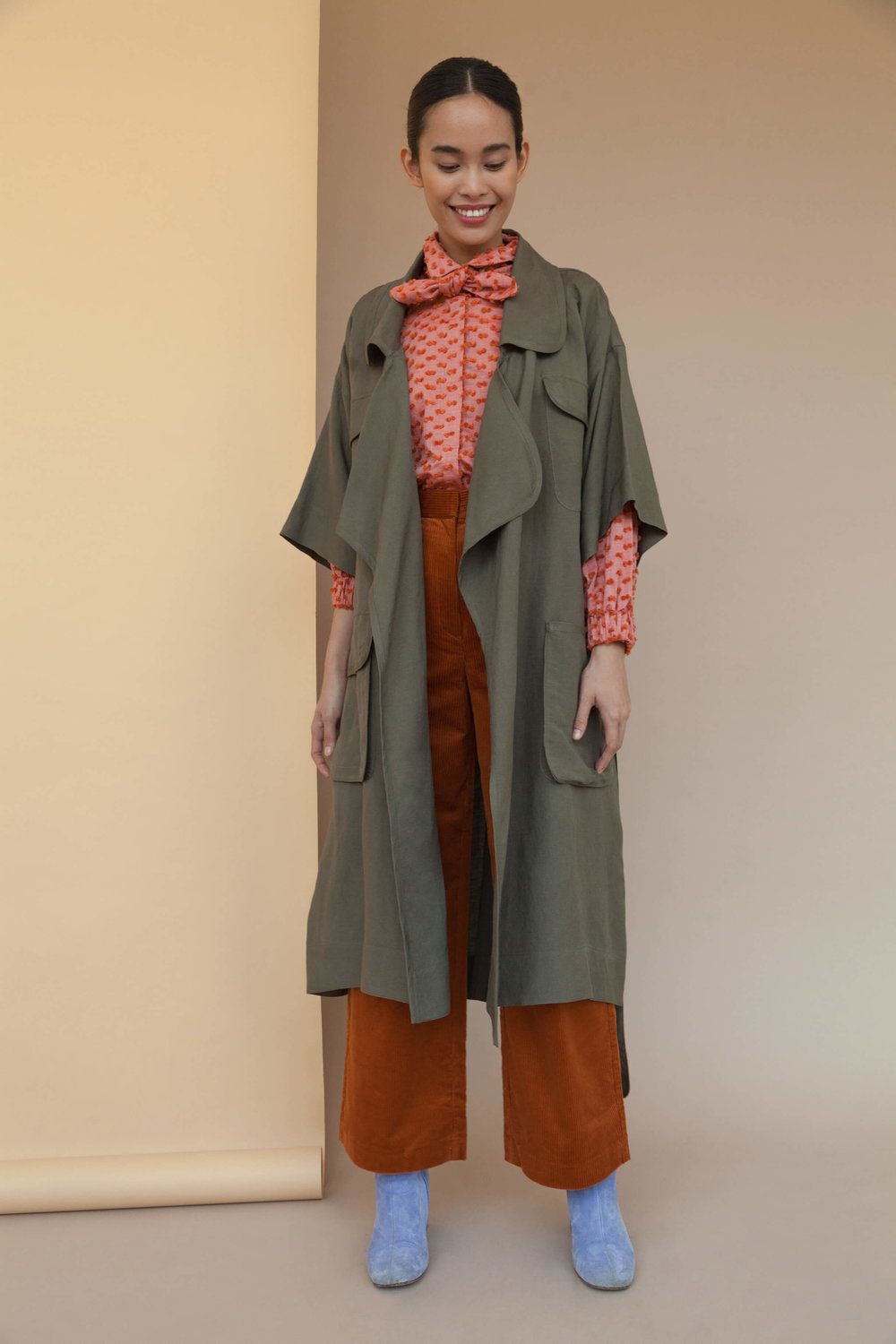 Carlisle Open Trench Olive Moss $300