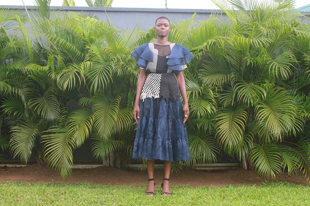 Rara Top $340 Rara Skirt $491 Blue Weave