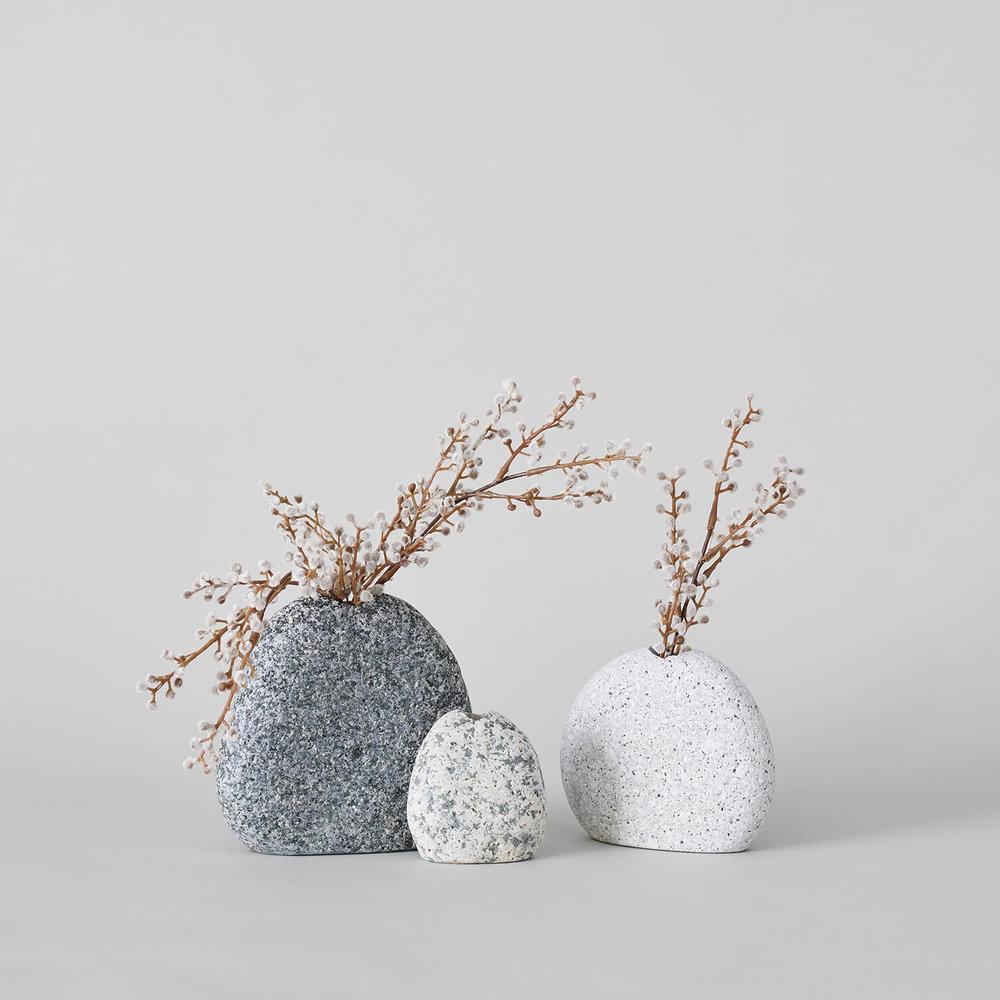 Beach Stone Vases $22-$50