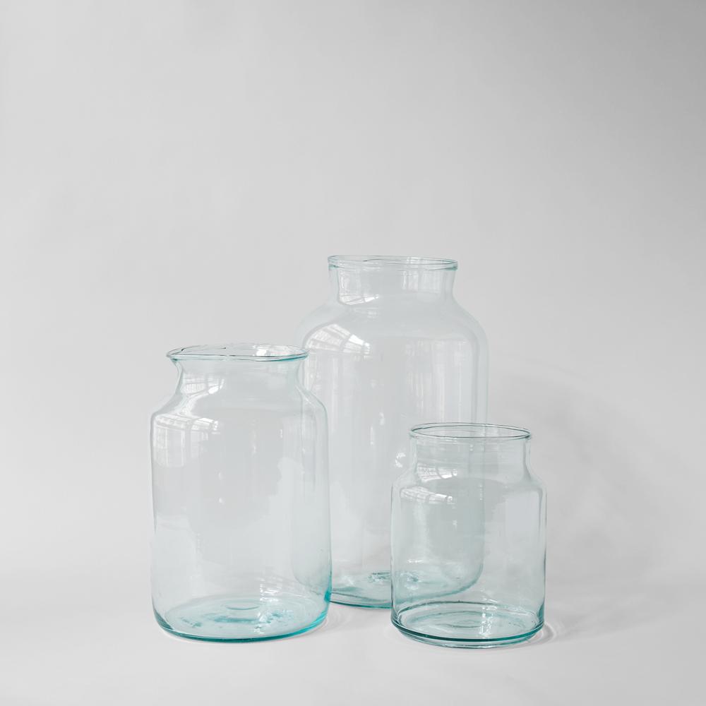 European Recycled Glass Jar $64-$88