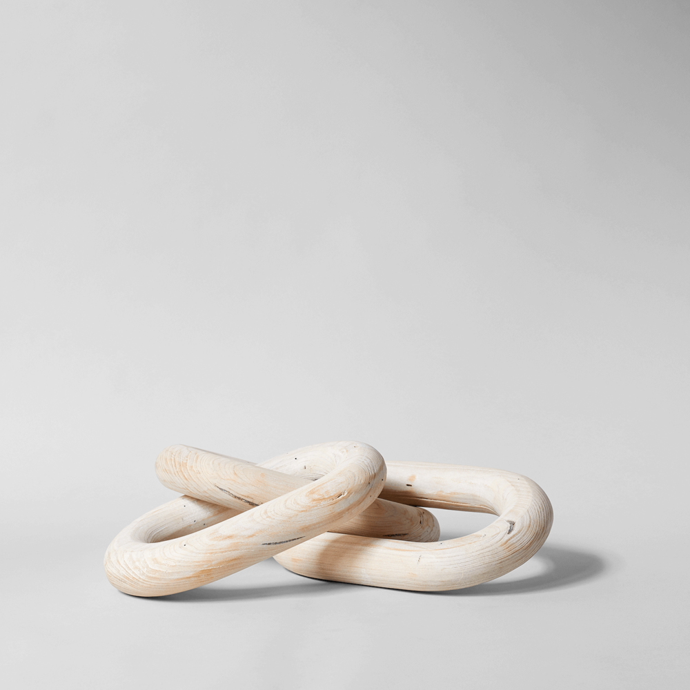 Pale Wood Chain, Large Three Link $98