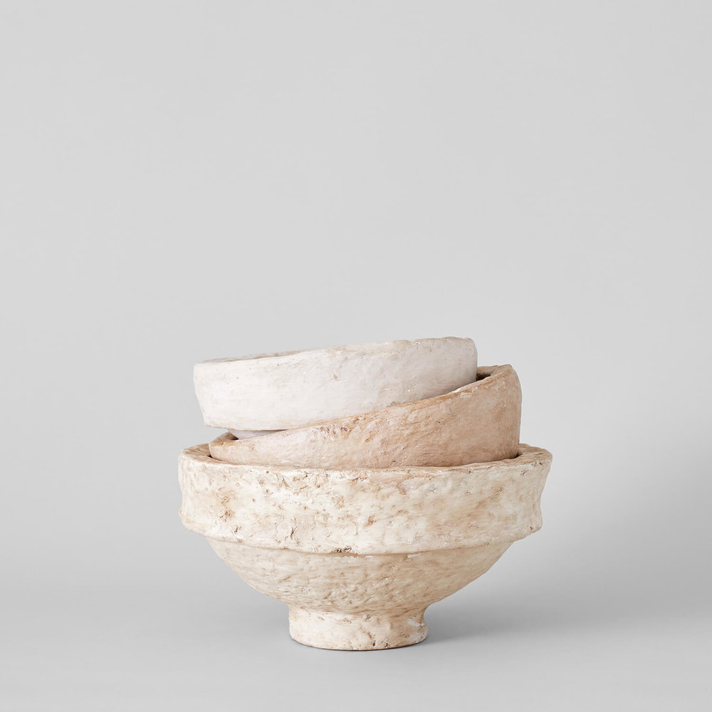 Paper Mache Bowl $25-$55