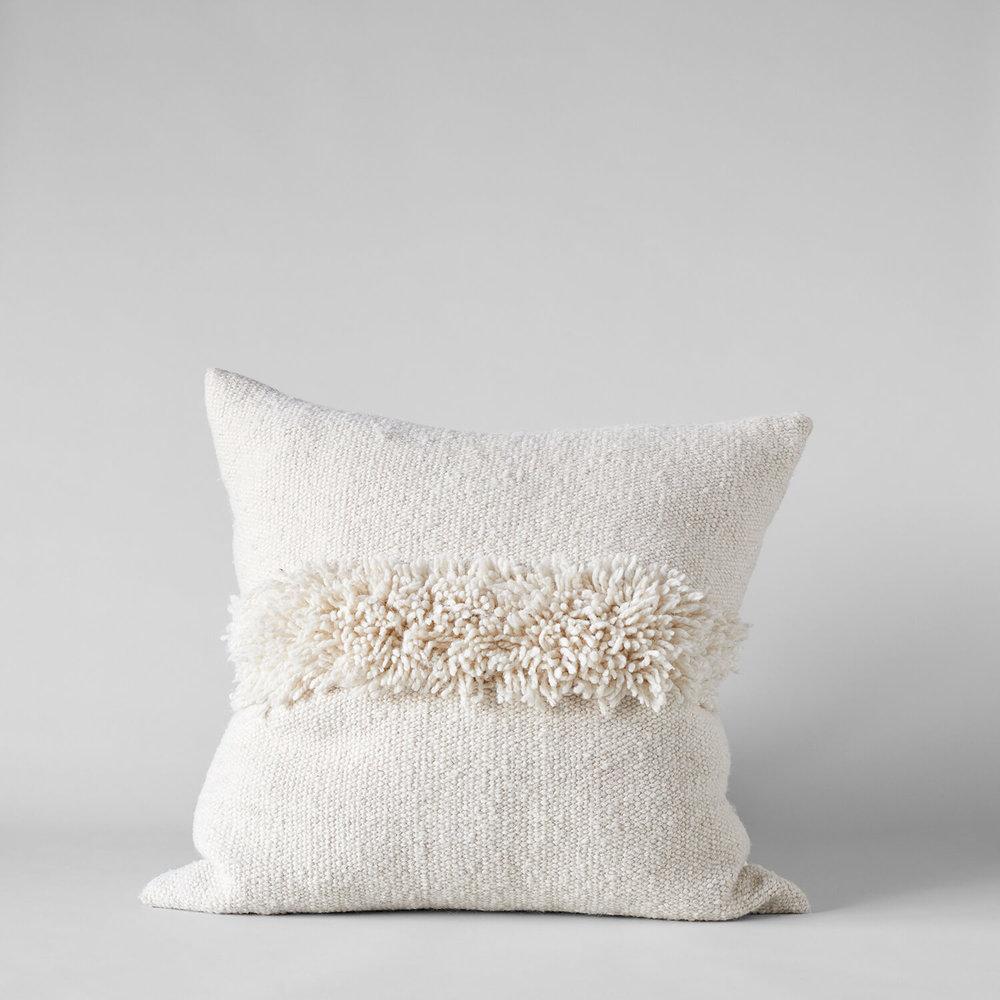 Puna Handwoven Ivory Pillow, 22x22 $280