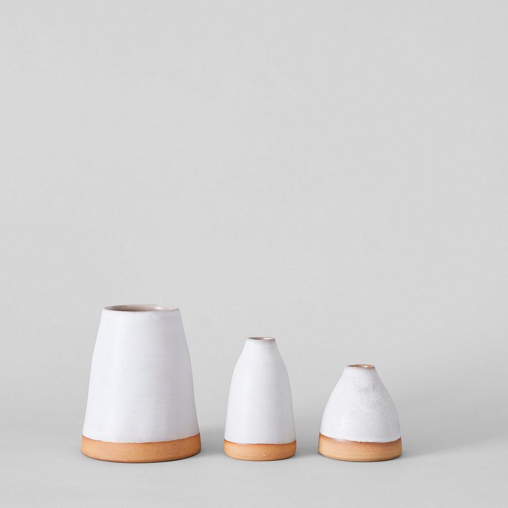 The Shelter Glazed Vases  $42-$72