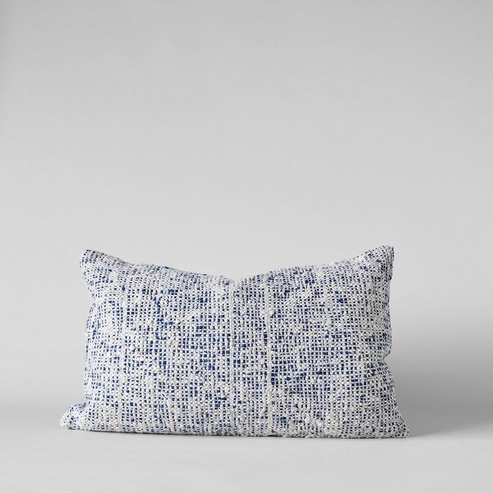 Textured Tweed Blue Pillow, 16x24 $98