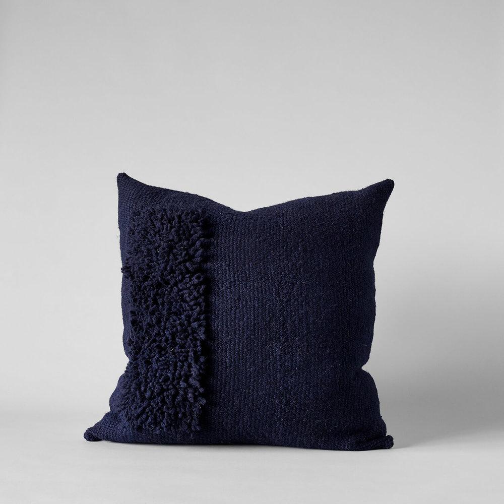 Zona Handwoven Navy Pillow, 22x22 $225