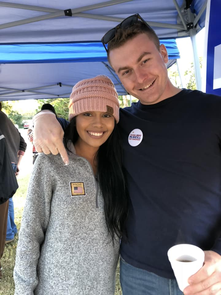 Dylan with his girlfriend, Teresita, on Election Day 2018. It was her first time voting!