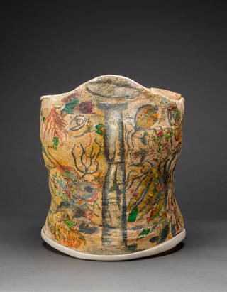 Plaster corset, painted and decorated by Frida Kahlo, Museo Frida Kahlo. © Diego Rivera and Frida Kahlo Archives, Banco de México, Fiduciary of the Trust of the Diego Rivera and Frida Kahlo Museums.