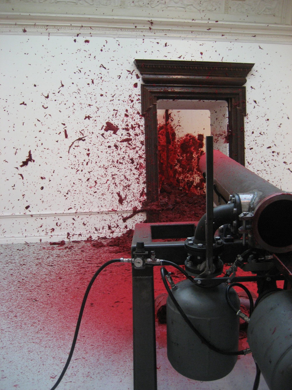 Anish Kapoor,  Shooting into the Corner,  2008/2009.