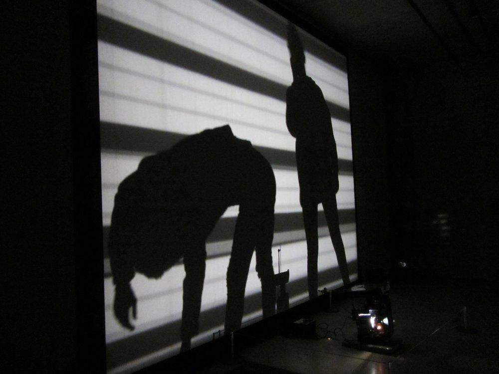 Lis Rhodes,  Light Music , 1975. Re-installed, Tate Tanks, 2012.