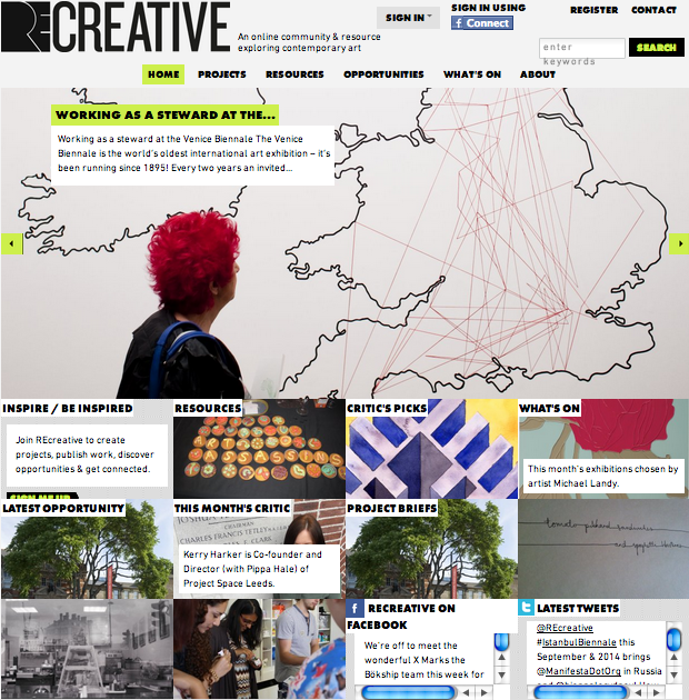 REcreativeUK.com when it first launched in 2011.