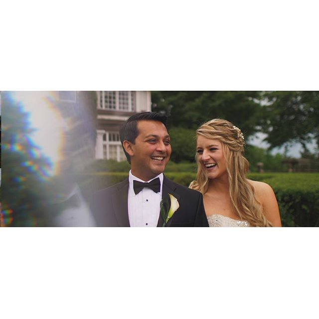 Screen grab from a recent wedding film. The weather couldn't stop this happy couple from having their beautiful wedding ceremony at Longview Mansion. It looked great on film!