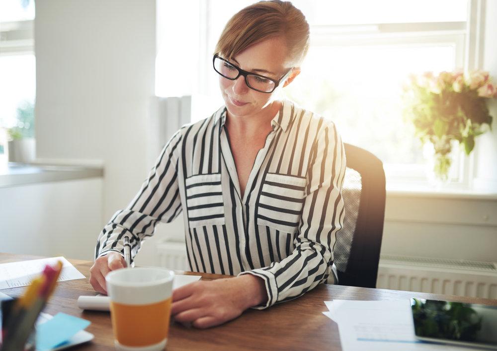 Women focused on creative