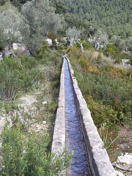 Agriculture in Mallorca depends largely on irrigation. This channel carried clean, cold water from a cave-like source in the mountain to the gardens near the monastery Lluc.