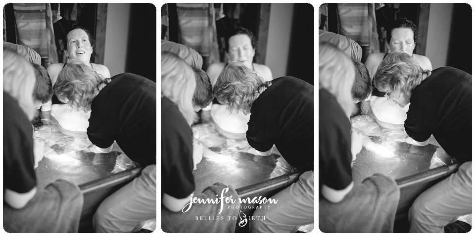 homebirth, waterbirth, home waterbirth with midwives, labor outside photos, birth photographer, find a birth photographer in the mountains, rocky mountain birth photographer