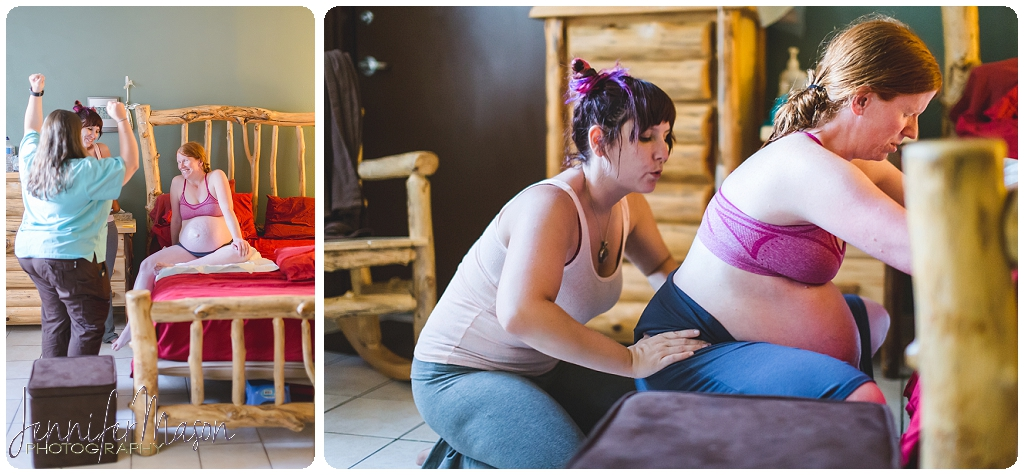 Doula supporting mama during birth