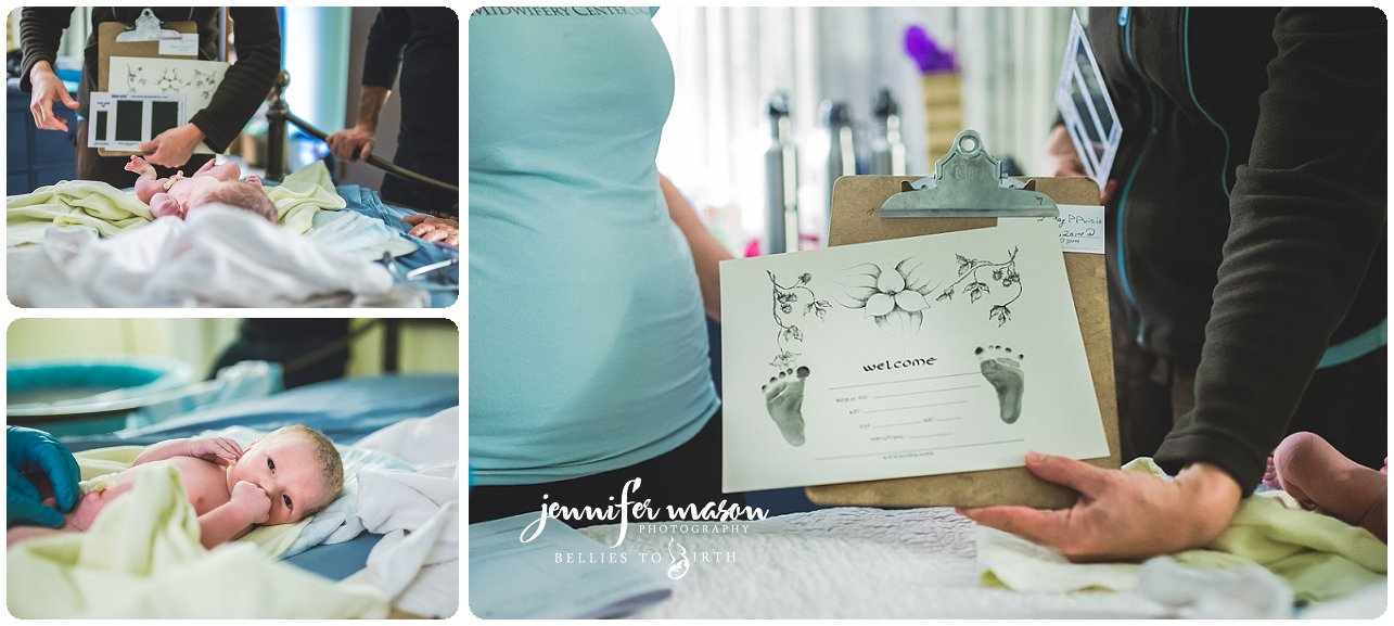 natural birth at Mountain Midwifery Center, MMC, birth center birth, baby #3