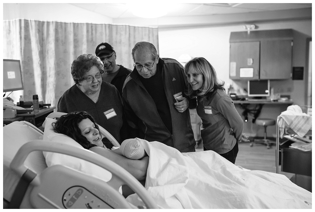 Family meets their newest member after a fast Easter birth