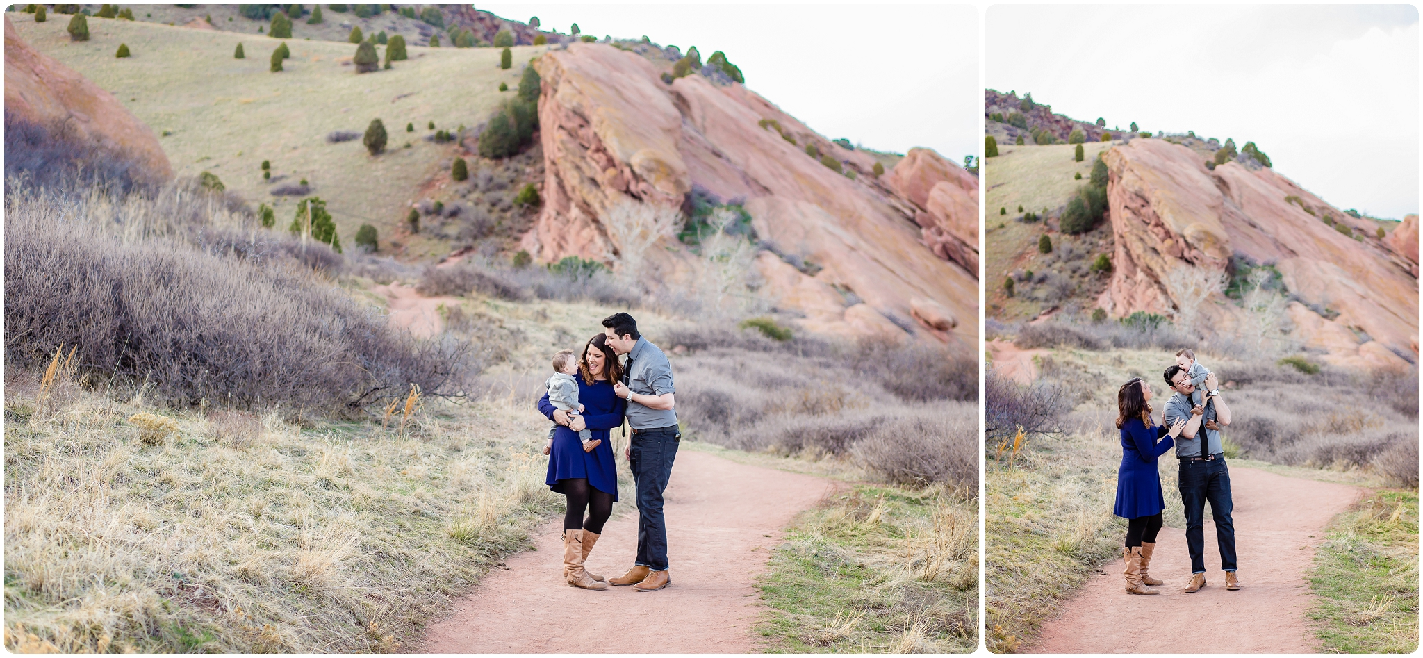 I love families of three, such love for the first little one, at Red Rocks