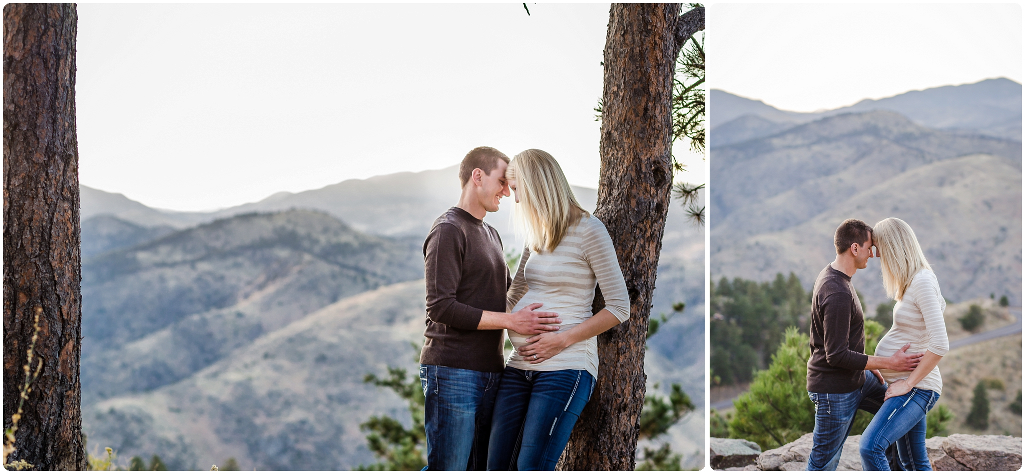Pregnancy photography in the mountains of Colorado