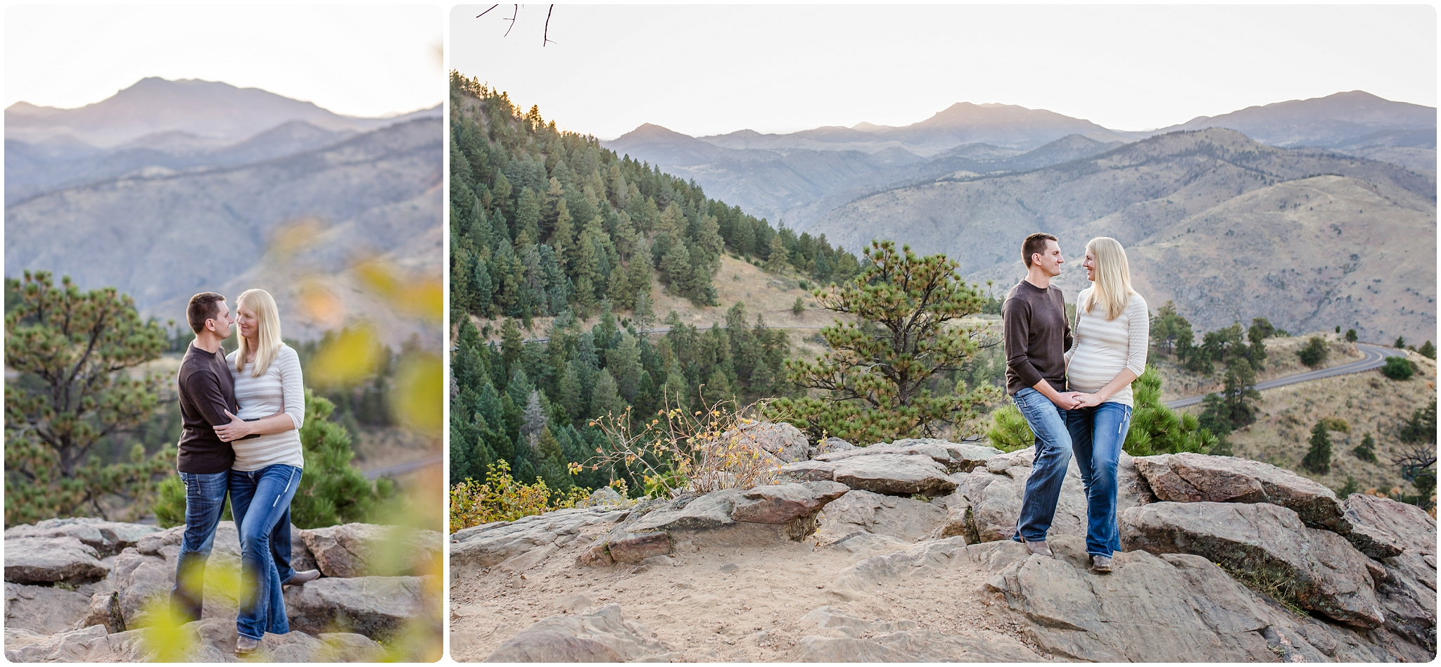Natural maternity photos in the fall