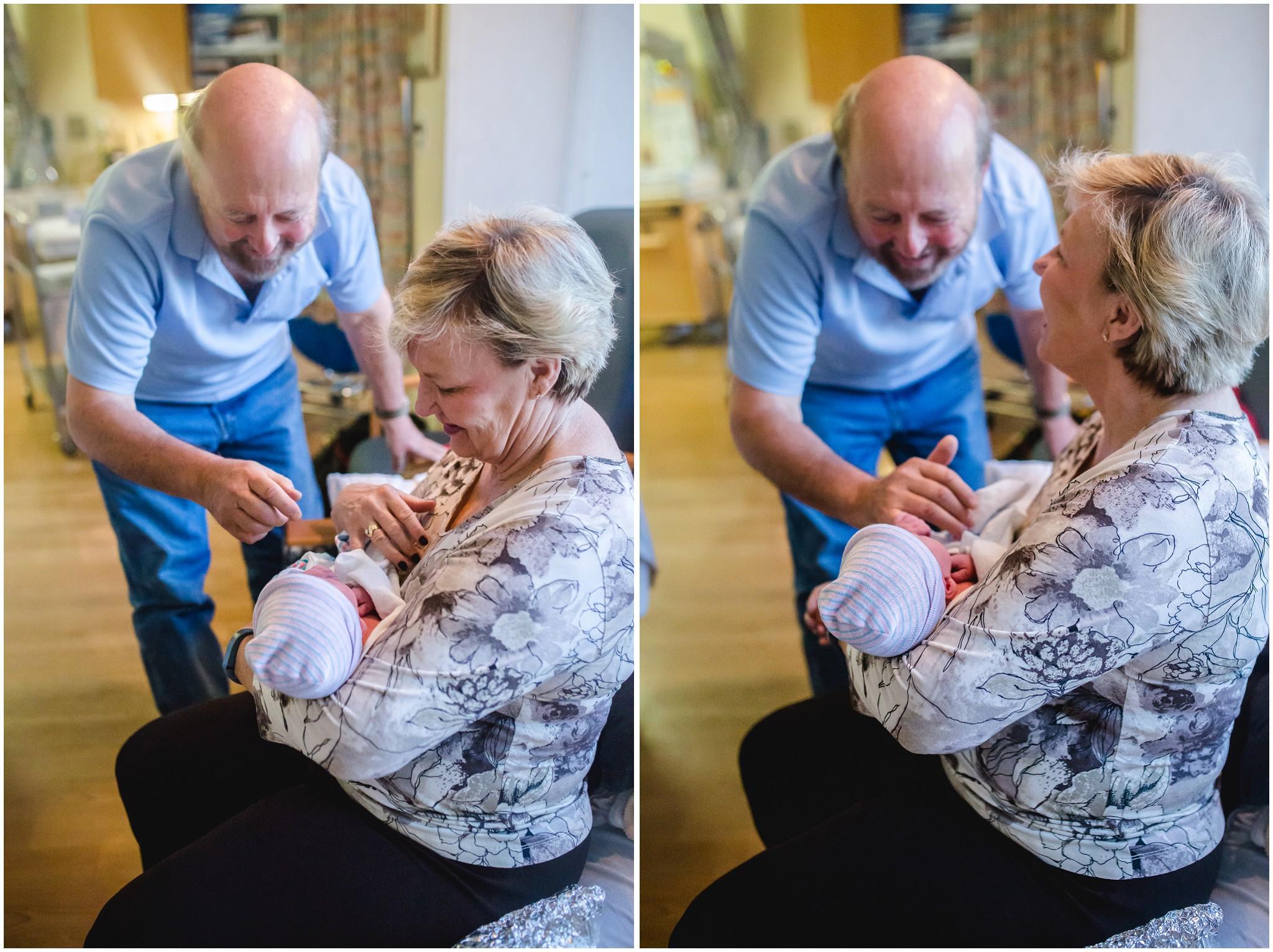 At the Denver hospital meeting their grandson