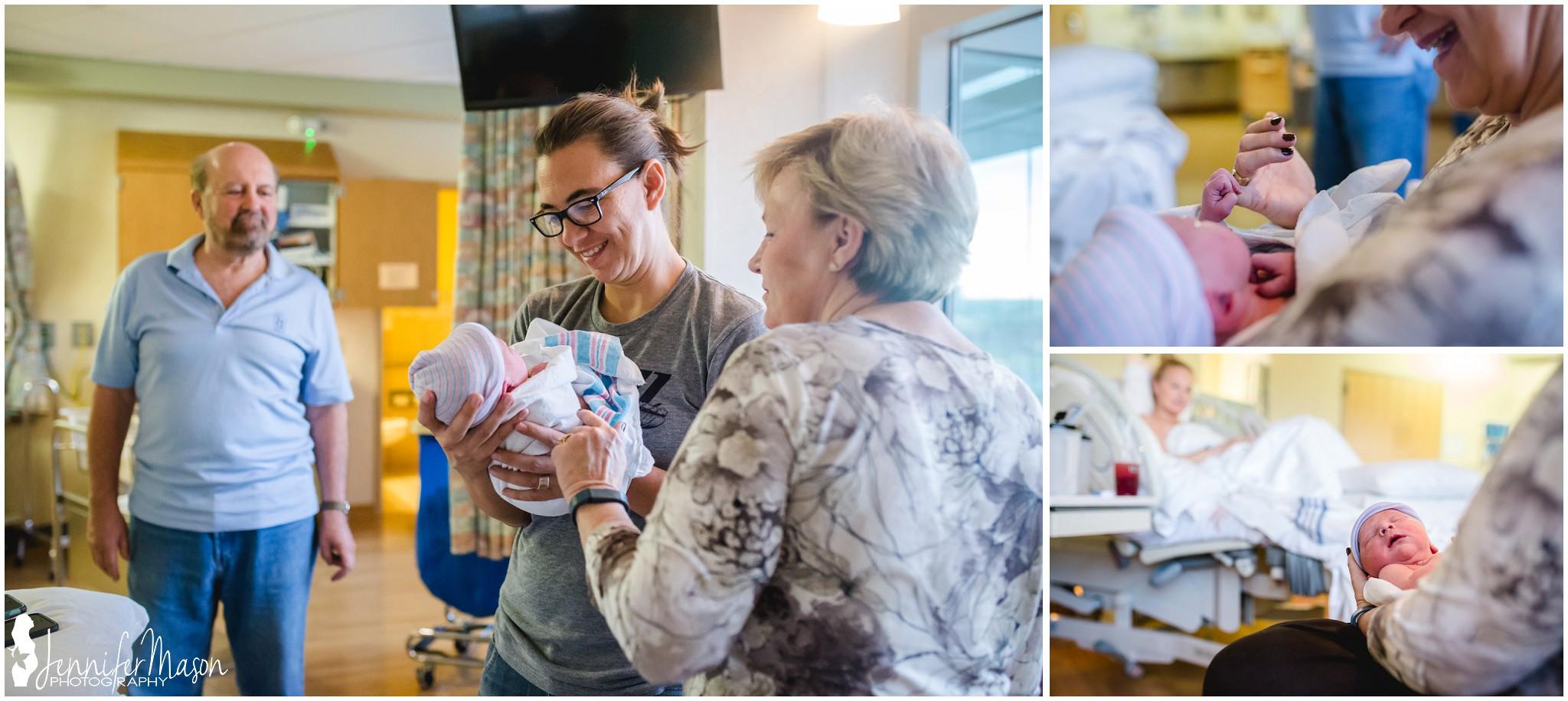 Hospital Birth center birth of little boy
