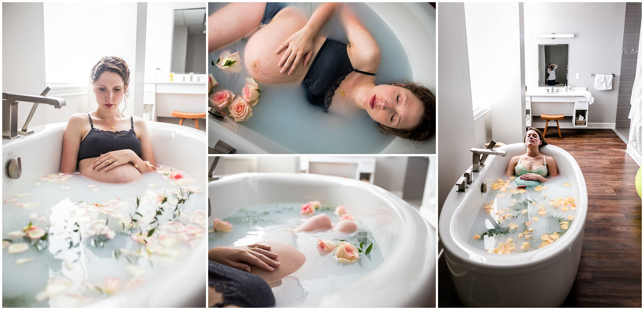 Photography in an herbal bath in Lakewood, Colorado