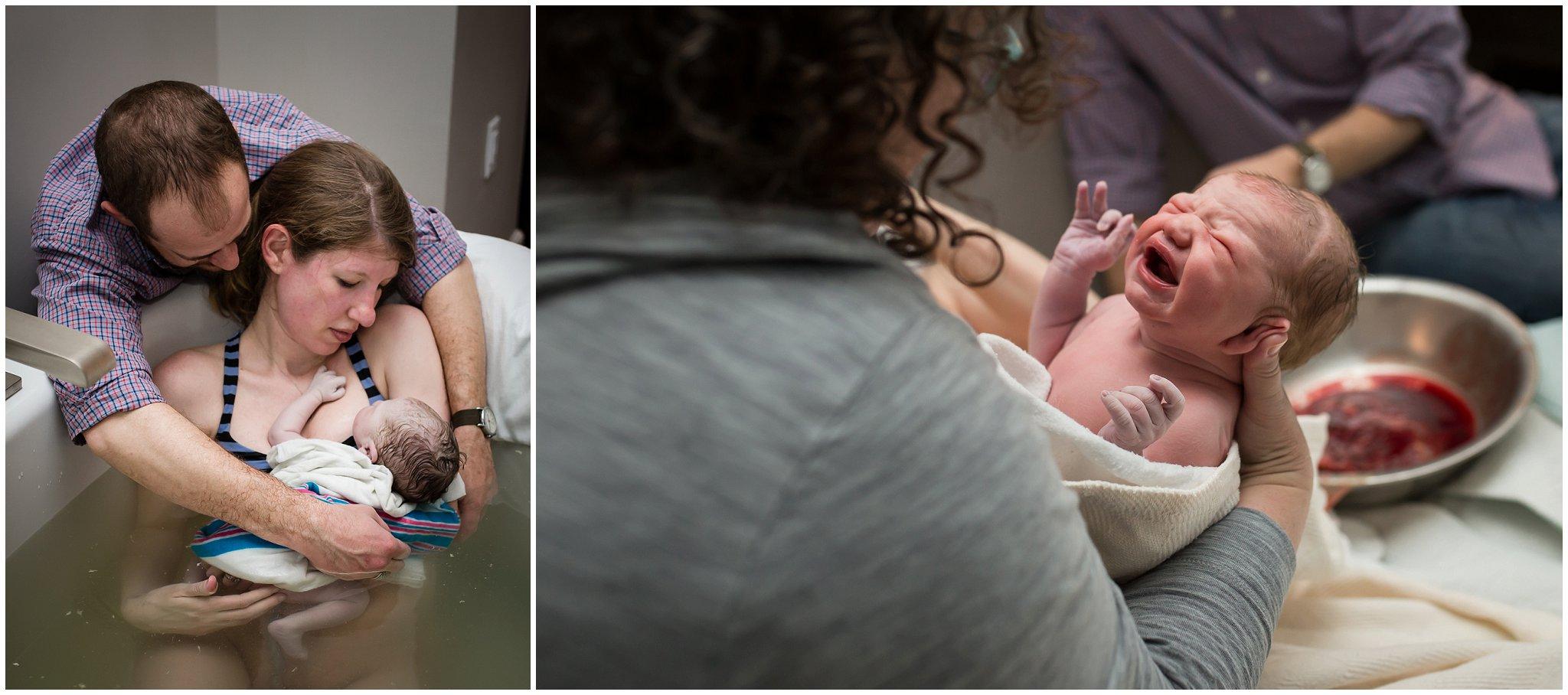 Jen Matera does newborn check