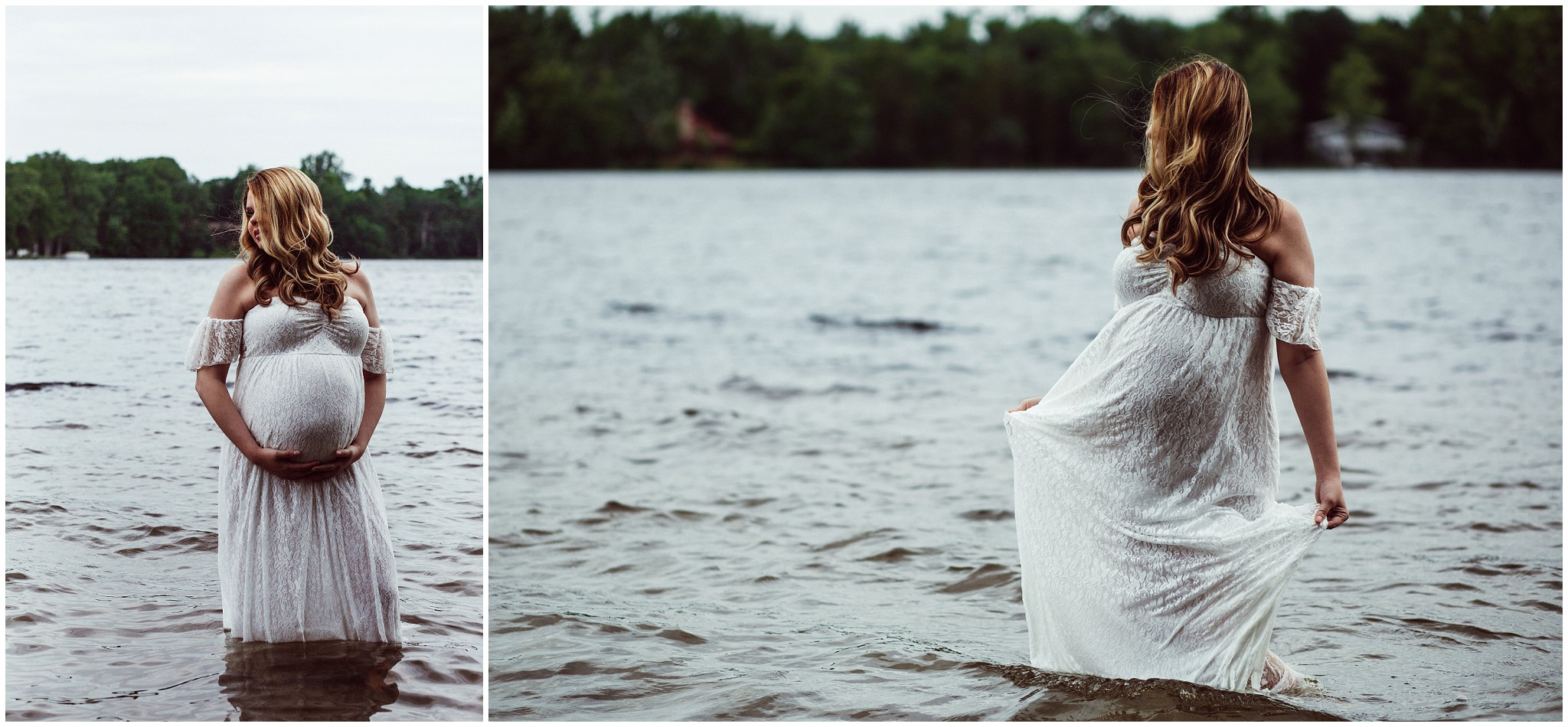 Lake Michigan maternity photography