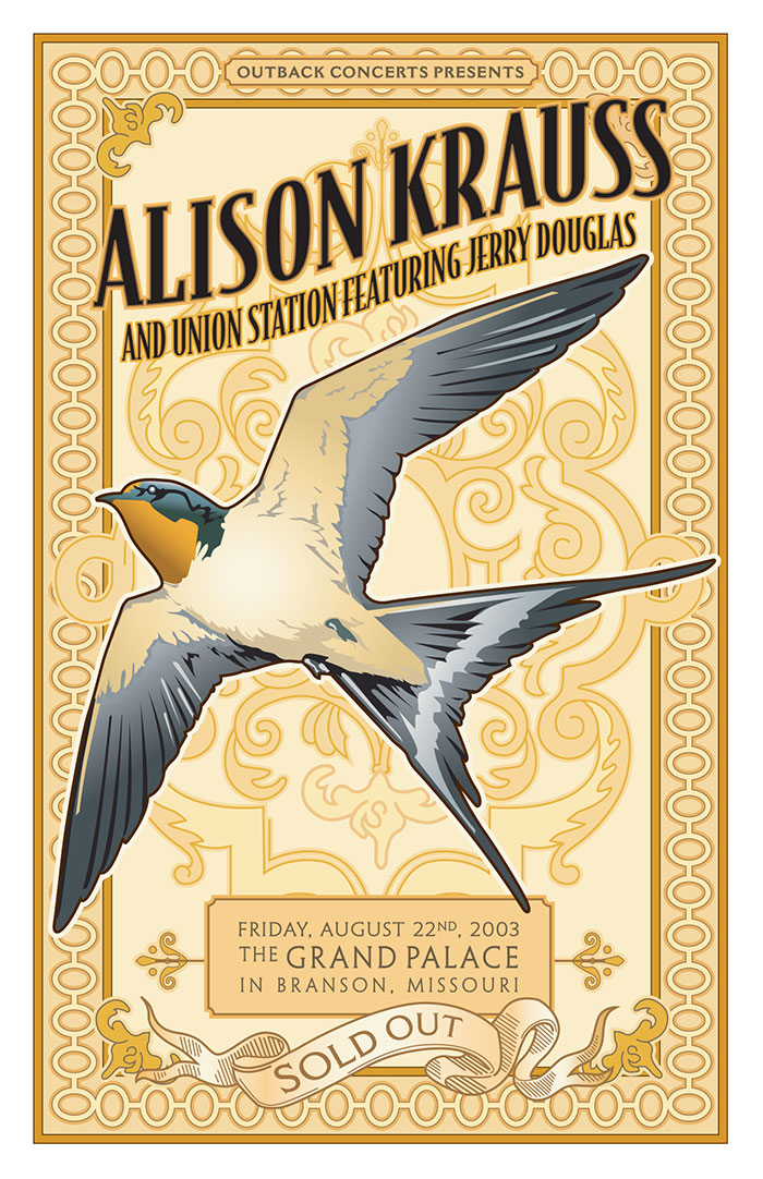 Design and illustration for Alison Krauss poster for Outback Concerts