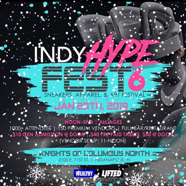Today's the day! This weather ain't gon stop nothing be sure to pull up 🙏🔥🔥 @indyhypefest @baylenlatona