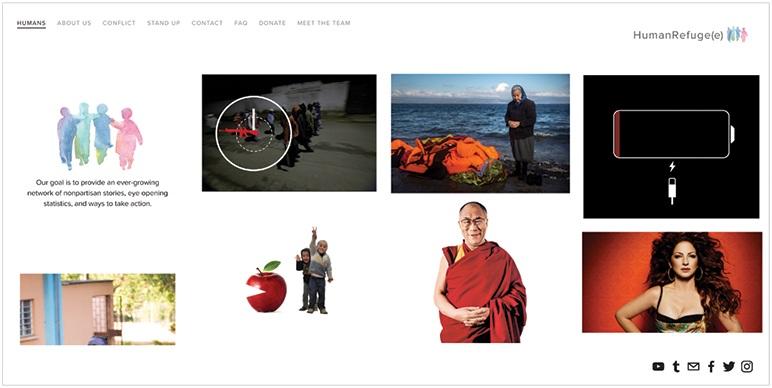 humanrefugee-website