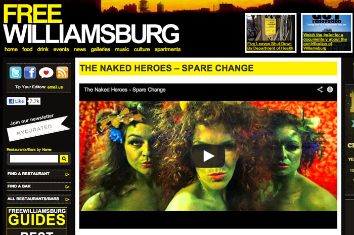 The Naked Heroes - Spare Change on FREEwilliamsburg