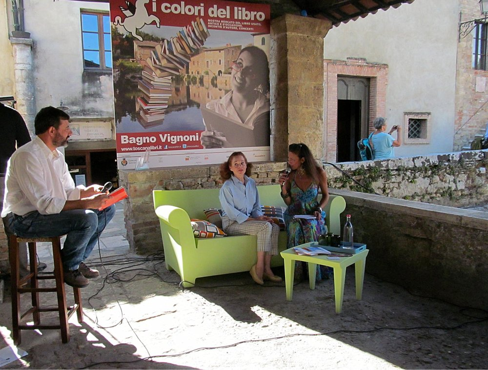 The author at the interview in Bagno Vignoni, Tuscany – Italy