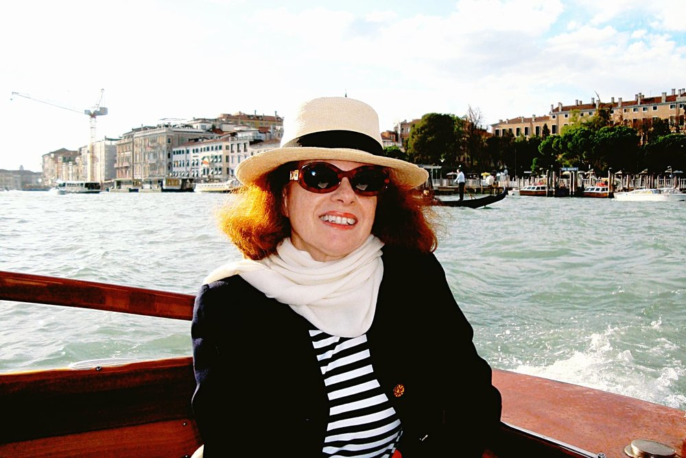 The author in Venice