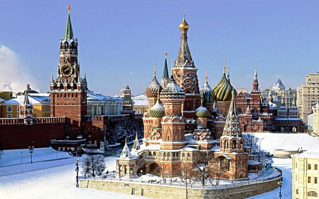 La cattedrale di San Basilio a Mosca, Russia