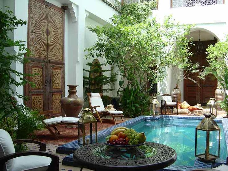 A traditional riad in Marrakech, Morocco