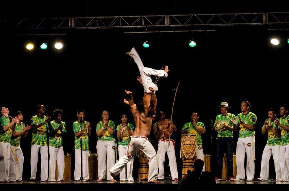 The Capoeira dance, Brazil