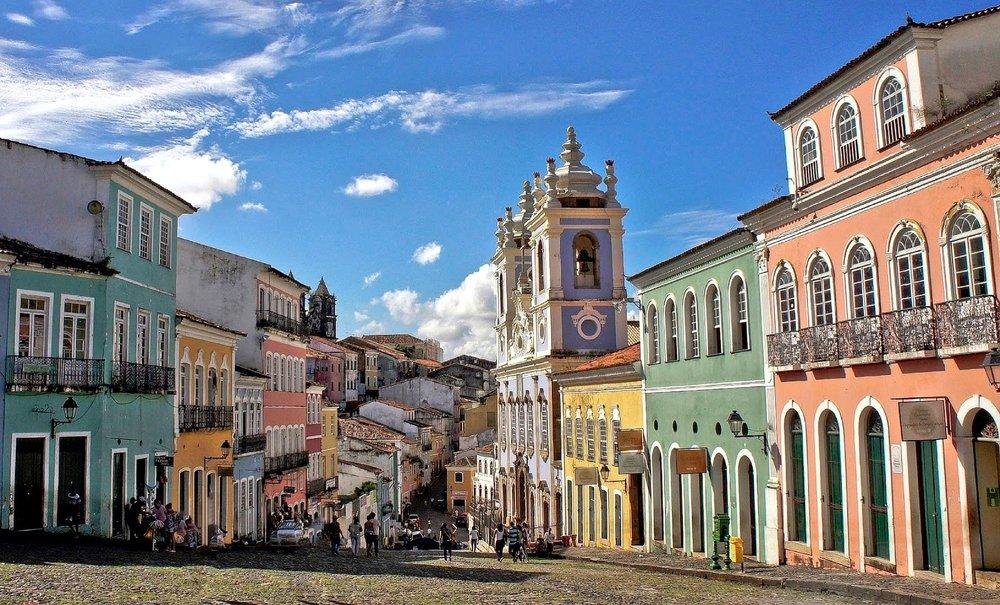 Il vecchio quartiere di Pelourinho in Salvador di Bahia, Brasile
