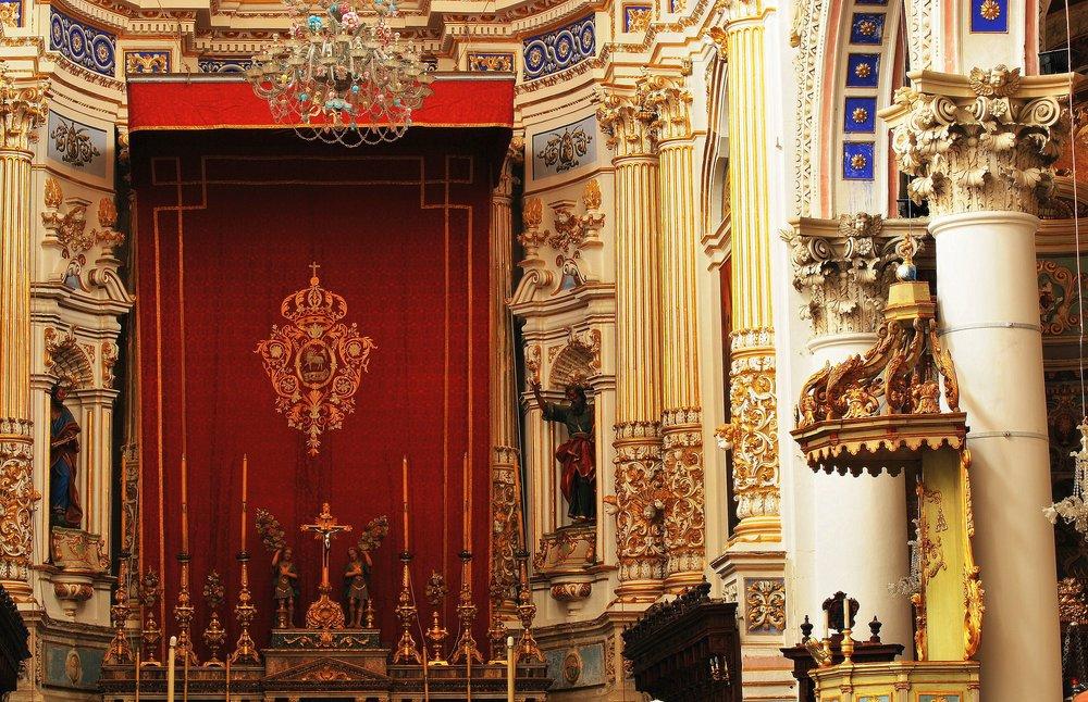 A baroque church in Sicily, Italy