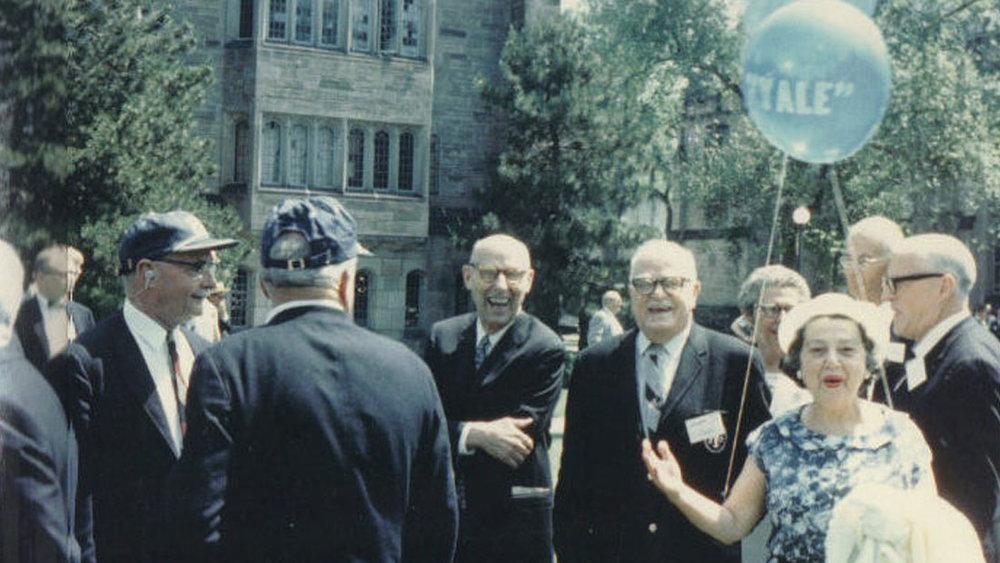 AMOS, THORNTON AND ISABEL WILDER, ALUMNI DAY, YALE, JUNE 1970