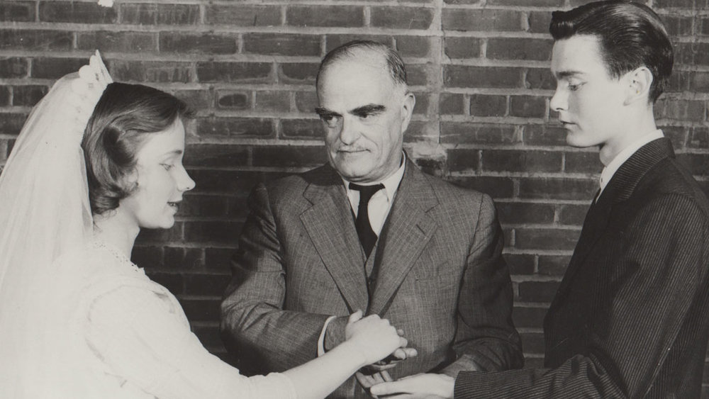 THE COLLEGE OF WOOSTER PRODUCTION OF OUR TOWN IN MAY 1950 WITH WILDER AS THE MINISTER IN ACT II