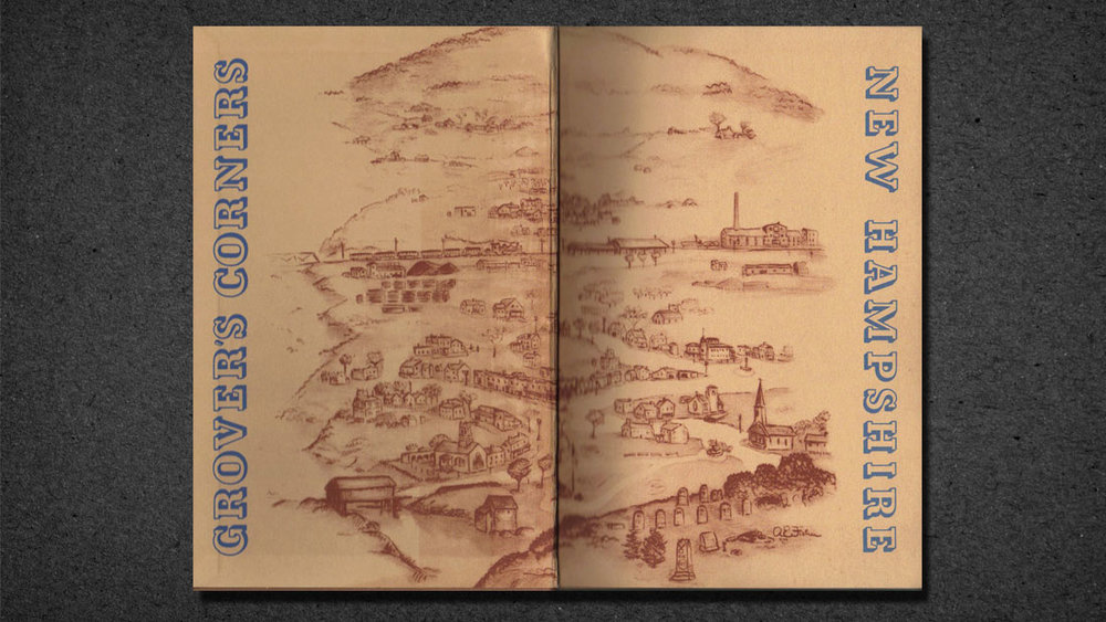 INSIDE COVER OF ORIGINAL READING EDITION OF OUR TOWN