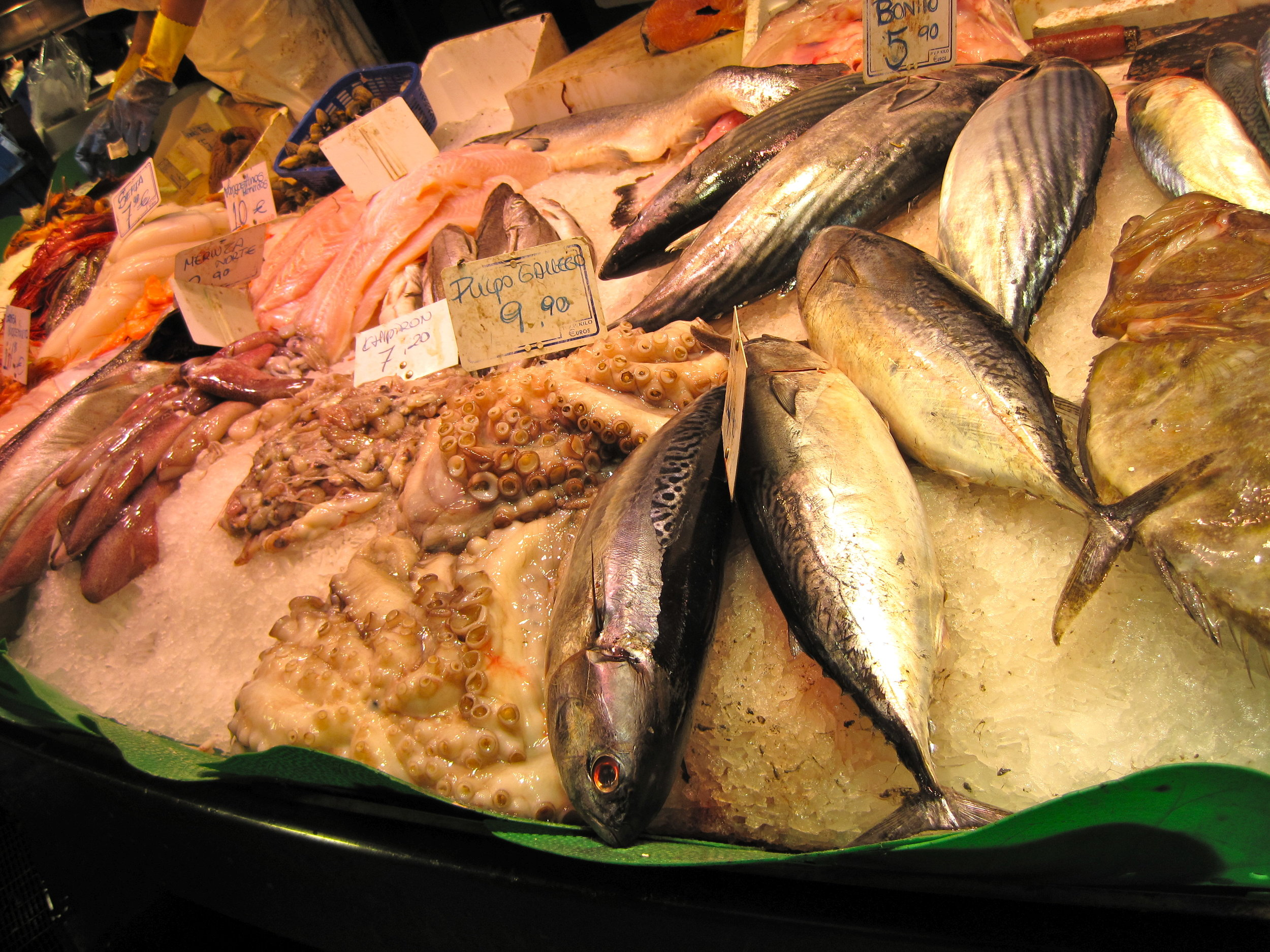 Fresh Catch at La Boqueria Mercat