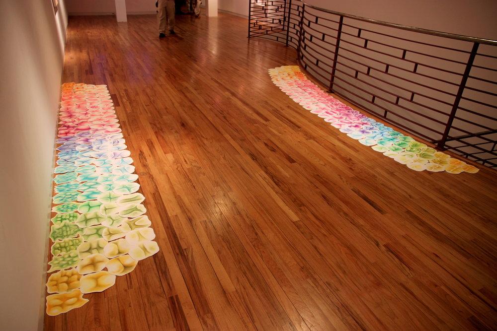 Rainbow Road,  2014. Chalk pastel on cut paper.