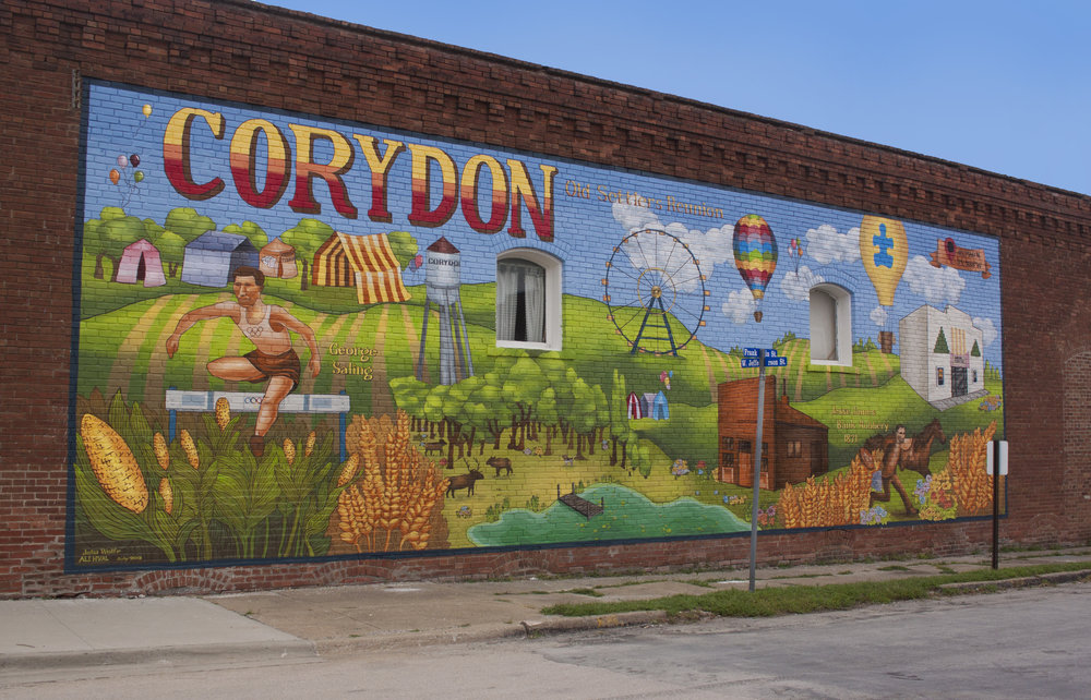 Old Settlers' Reunion (in collaboration with Julia J Wolfe) , 2018. Corydon, IA. 60'x24'