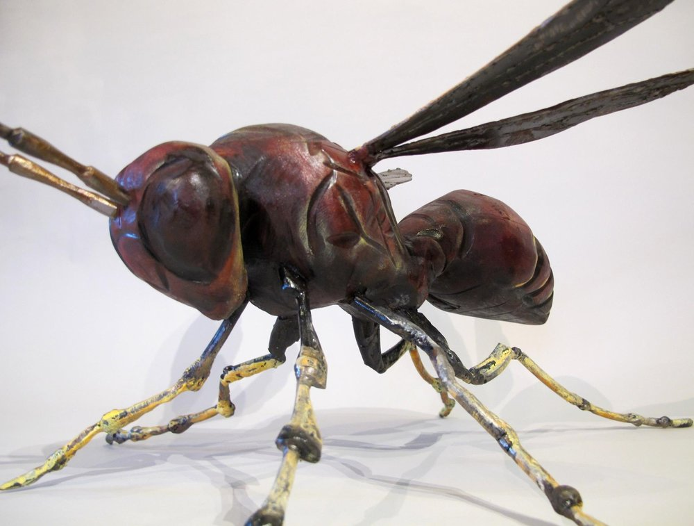THE WASP - A new creation by Kelly Guidry, unlike any other bugs he has created. On display at SALADINO GALLERY | COVINGTON, LA